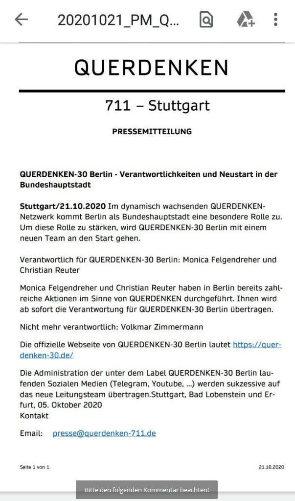 PM QUERDENKEN BERLIN