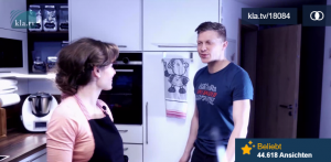 Katharina W. mit Ehemann Björn in OCG-Sendung