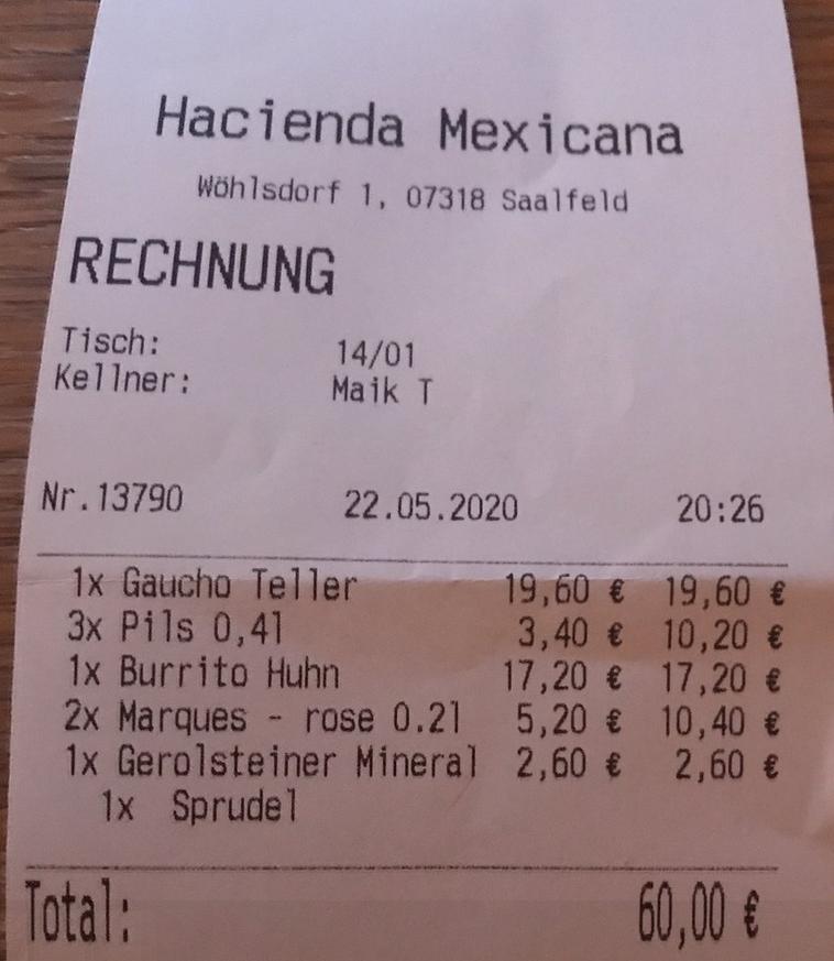 Bon aus der Hacienda Mexicana